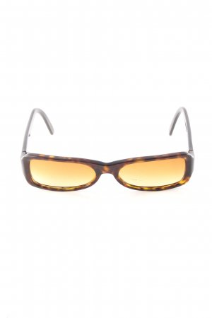Prada Retro Brille braun-hellorange Allover-Druck Casual-Look