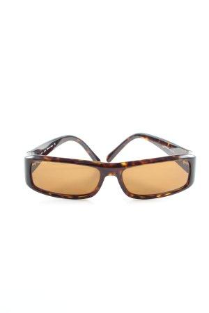 Prada Retro Brille braun-blassgelb Allover-Druck Casual-Look