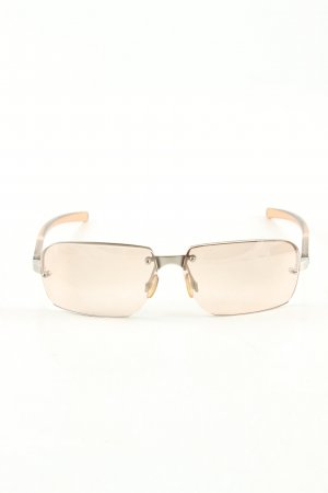 Prada Retro Brille goldfarben-pink Casual-Look