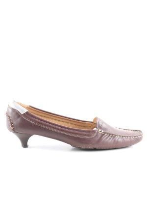 Prada Zapatos estilo Richelieu marrón look casual