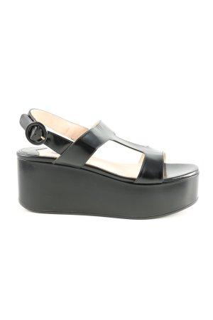 Prada Riemchen-Sandalen schwarz Casual-Look