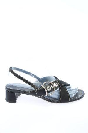 Prada Sandalo con cinturino e tacco alto nero stile casual