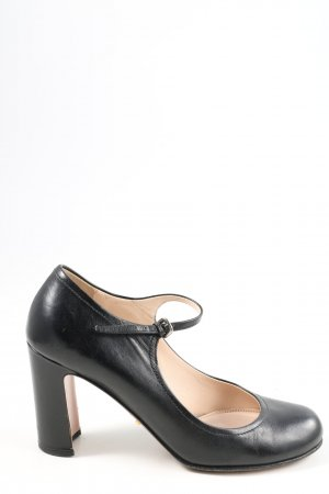Prada Riemchenpumps schwarz Business-Look