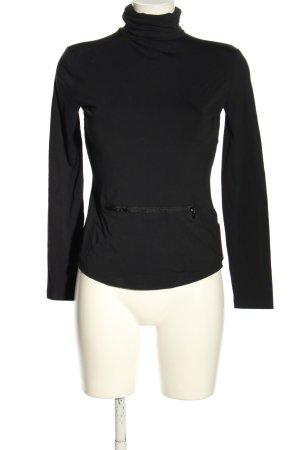 Prada Colshirt zwart casual uitstraling