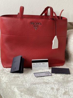 Prada Rot Vitello Phenix Tasche