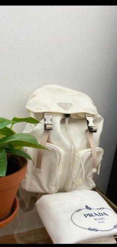 Prada Backpack Trolley natural white