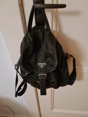 Prada Mini Backpack dark green-khaki