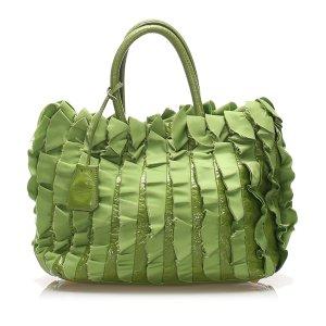 Prada Ruffled Tessuto Tote Bag