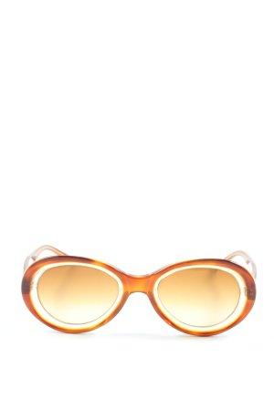 Prada Lunettes de soleil rondes orange clair style décontracté