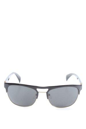 Prada Gafas de sol redondas negro-color oro look casual