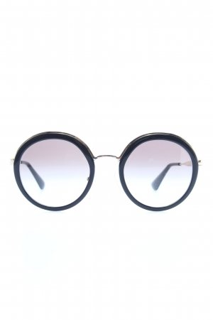 Prada Okrągłe okulary przeciwsłoneczne czarny W stylu casual