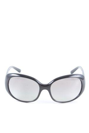 Prada Occhiale da sole rotondo nero stile casual
