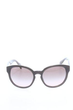 Prada runde Sonnenbrille schwarz Business-Look