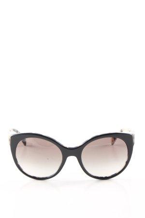 Prada Round Sunglasses black-cream leopard pattern casual look