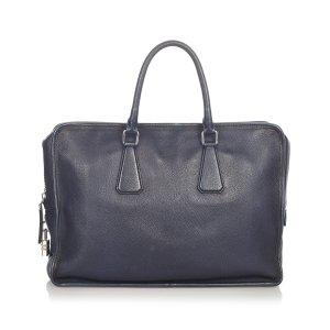 Prada Serviette bleu foncé cuir