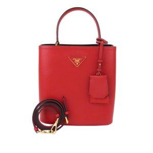 Prada Saffiano Cuir Panier Double Bucket Bag