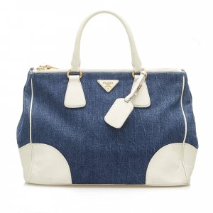 Prada Handbag blue cotton