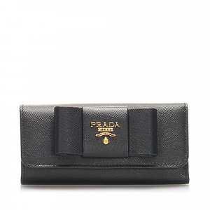 Prada Saffiano Fiocco Bow Key Holder