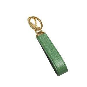 Prada Etui na klucze zielony Skóra
