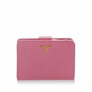 Prada Saffiano Leather Bi-fold Small Wallet