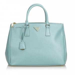 Prada Tote light blue leather