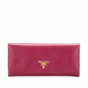 Prada Saffiano Leather Long Wallet