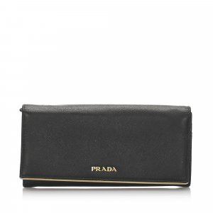 Prada Saffiano Long Continental Wallet