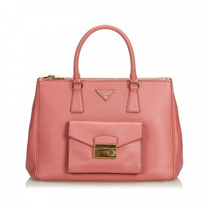 Prada Saffiano Lux Galleria Double Zip Pocket Tote