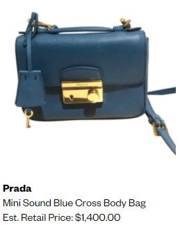 PRADA Saffiano Mini Sound Bag Dark Blue