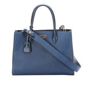 Prada Satchel blue leather