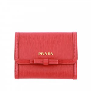 Prada Wallet red leather