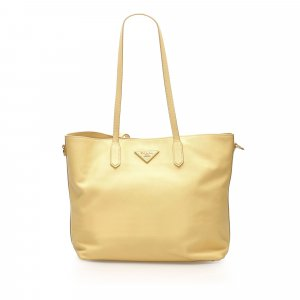 Prada Tote yellow leather
