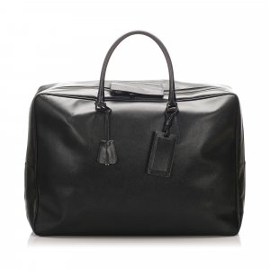 Prada Travel Bag black leather