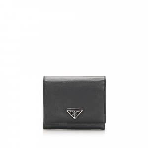 Prada Saffiano Tri-fold Small Wallet