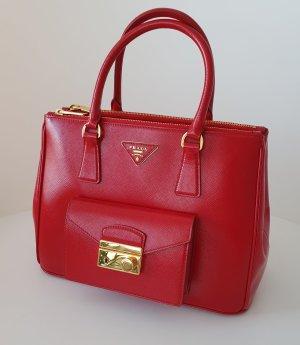 Prada Saffiano Vernic Rosso Rot Bag Tragetasche