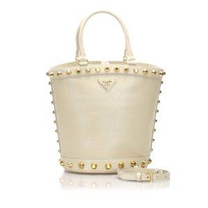 Prada Saffiano Vernice Bucket Bag