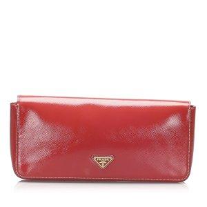 Prada Saffiano Vernice Clutch Bag