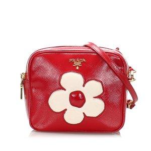 Prada Saffiano Vernice Crossbody Bag
