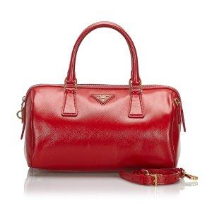 Prada Saffiano Vernice Leather Satchel