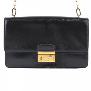 Prada Saffiano Vernice Sound Crossbody Bag