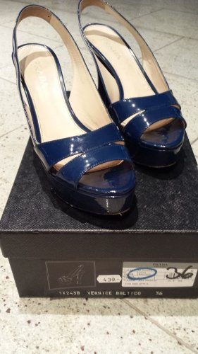 Prada Platform Sandals dark blue