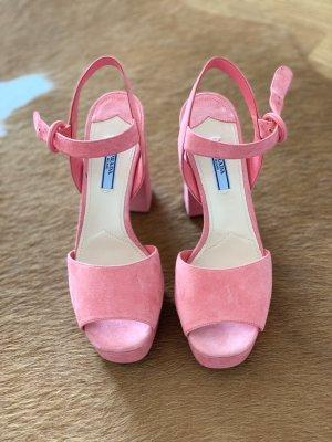 Prada Sandales à plateforme rose