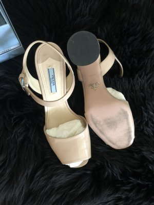 Prada Strapped Sandals nude leather