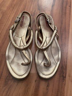 Prada Toe-Post sandals gold-colored