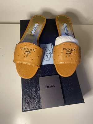 Prada Sabots cognac-coloured
