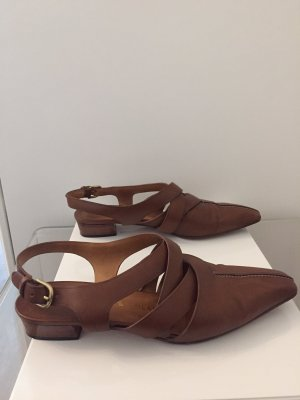 Prada Strapped Sandals brown-gold-colored