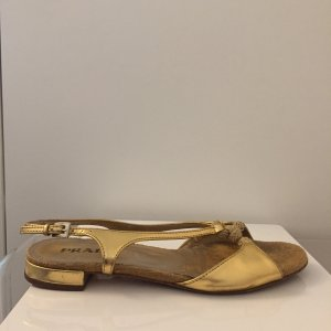 Prada Strapped Sandals gold-colored-silver-colored