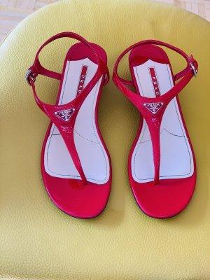 Prada Flip flop sandalen rood