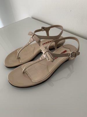 Prada Sandały japonki beżowy
