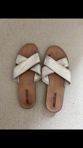 Prada Comfort Sandals silver-colored